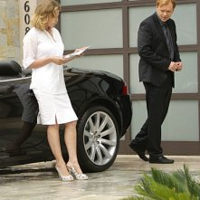 Cheryl Ladd e David Caruso in una scena dell'episodio Bolt Action di CSI Miami