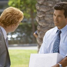 David Caruso ed Eddie Cibrian in una scena dell'episodio Out of Time di CSI Miami