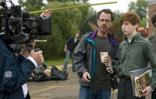 Ethan Coen e Aaron Wolff sul set del film A Serious Man