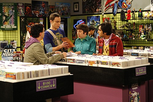 Kunal Nayyar Jim Parsons Johnny Galecki E Simon Helberg In Una Scena Dell Episodio The Jiminy Conjecture Di The Big Bang Theory 132427