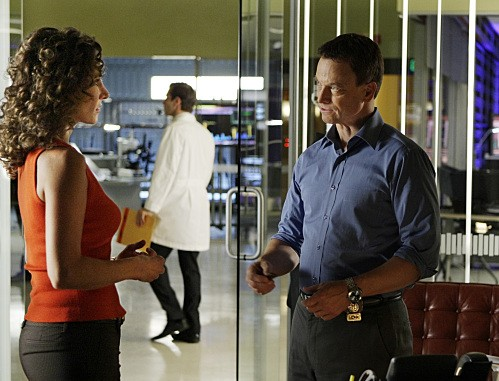 Melina Kanakaredes Ed Gary Sinise In Una Scena Dell Episodio Blacklist Featuring Hangman Di Csi New York 132496