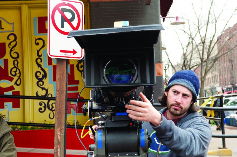 Jason Reitman sul set di Tra le nuvole (Up in the Air, 2009)