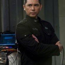 Lou Diamond Phillips in un momento delle premiere di Stargate Universe