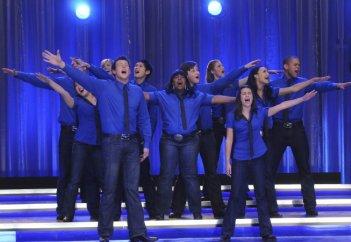 Una scena dell'episodio The Rhodes Not Taken della serie Glee
