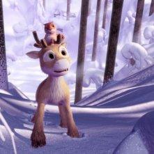 Una scena del film d'animazione Niko una renna per amico