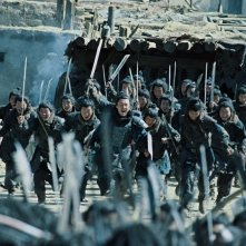 Una sequenza drammatica del film The Warrior and the Wolf di Tian Zhuangzhuang