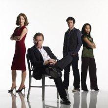 Il cast principale della prima stagione di Lie to Me per una foto promozionale
