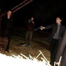 Giuseppe Milazzo Andreani durante le riprese di The Fall of Redemption