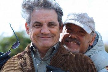 Luciano Capponi (regista) e Francesco Salvi (prof. Chenier) sul set di Butterfly Zone - Il senso della farfalla