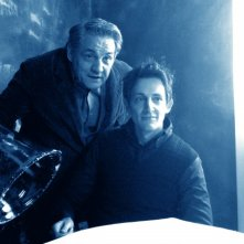 Pietro Ragusa (Vladimiro Chenier, protagonista) e Francesco Salvi (prof. Chenier) in una scena di Butterfly Zone - Il senso della farfalla