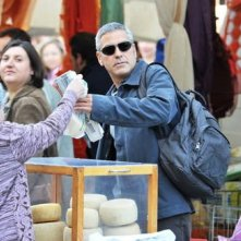 George Clooney sul set abruzzese di A Very Private Gentleman