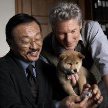 Richard Gere in una sequenza del film Hachiko - A Dog's Story