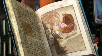Una scena del cartoon Nat e il segreto di Eleonora