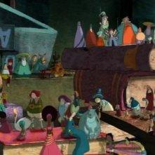 Una scena del film d'animazione Nat e il segreto di Eleonora, in cartellone al Festival del Film di Roma 2009