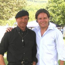 Barbato De Stefano accanto a Terence Hill sul set di Don Matteo 7