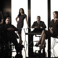 Il cast principale della stagione 2 di Lie to Me per una foto promozionale