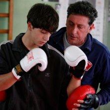 Gabriele Campanelli e Sergio Castellitto in una scena del film Alza la Testa