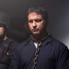 Gerard Butler in una scena del film Law Abiding Citizen