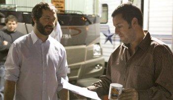 Judd Apatow e Adam Sandler sul set del film film Funny People