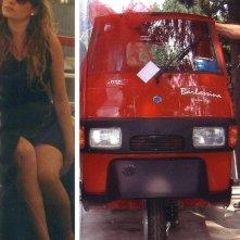 Rita Bellacosa e l'Ape rosso fuoco da lei regalato al divo George Clooney.