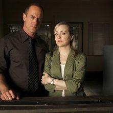 Christopher Meloni e Geneva Carr in una scena dell'episodio Unstable di Law & Order: SVU