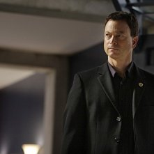 Gary Sinise in un'immagine dell'episodio Dead Reckoning di CSI New York
