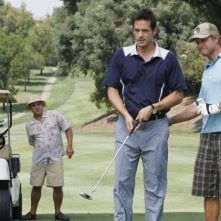 Josh Hopkins, Brian Van Holt ed Ian Gomez in una scena dell'episodio You Wreck Me di Cougar Town