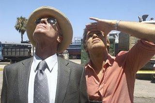 Michael C. Hall e Keith Carradine in una scena dell'episodio Blinded by the Light di Dexter