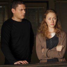 Wentworth Miller e Jennifer Ferrin in una scena dell'episodio Unstable di Law & Order: SVU