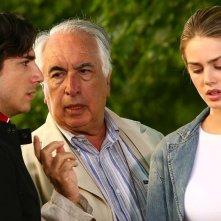 Vanessa Hessler, il regista Vittorio Sindoni e Luca Bastianello sul set della fiction Una sera d'ottobre