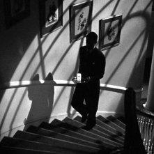 Cary Grant in una celebre scena del film Il sospetto ( 1941 )