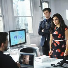Ugly Betty: America Ferrera, Eric Mabius e Michael Urie nell'episodio The Wiener, the Bun and the Boob