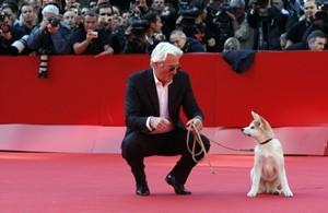 Roma 2009: Richard Gere sul red carpet insieme all'irresistibile Hachiko