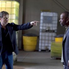 Lie to Me: la guest star Lennie James con Tim Roth nell'episodio Grievous Bodily Harm