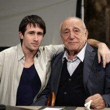 Pierpaolo Camplone e Arnoldo Foà sul set de Le ombre rosse