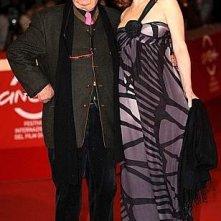 Festival di Roma 2009 - red carpet 'piccante' per Tinto Brass e la sua ultima musa, Caterina Varzì