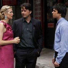 Kelly Rutherford, Matthew Settle e Chris Riggi nell'episodio Rufus Getting Married di Gossip Girl