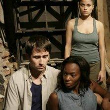 Pierpaolo Camplone, Letizia Sedrick, Veronica Gentili in una scena del film Le ombre rosse