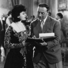 Pola Negri sul set di un film