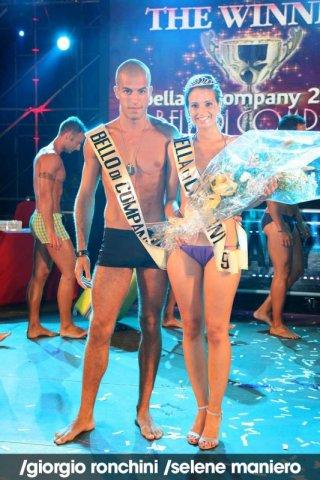 Giorgio Ronchini durante un concorso di bellezza.