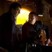Brian J. Smith parla con Peter Kelamis della puntata Light di Stargate Universe