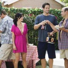 Cougar Town: Brian Van Holt, Courteney Cox, Josh Hopkins ed Ian Gomez nell'episodio Don't Come Around Here No More