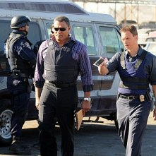 CSI New York: Gary Sinise e Laurence Fishburne nell'episodio Hammer Down