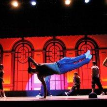 Channing Tatum durante lo spettacolo teatrale del film Step Up