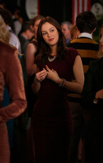 Leighton Meester al party nell'episodio The Grandfather: Part II di Gossip Girl