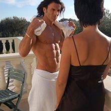 Vittorio Boscolo a torso nudo nei panni di Tano Barberi in The Fall of Redemption (foto Francesca Casadei)