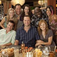 Il cast de L'isola delle coppie sul set del film