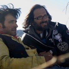 James Huth e Jean Dujardin sul set del film Lucky Luke