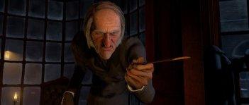 Ebenezer Scrooge (doppiato da Jim Carrey) è il protagonista di A Christmas Carol (2009)
