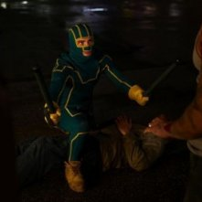 Aaron Johnson in una scena di Kick-Ass